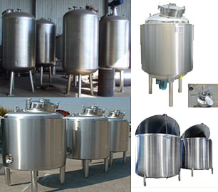 stainless steel storage and process vessels