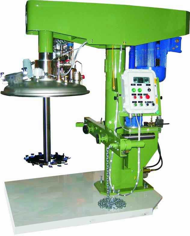 Ex - proof vacuum disperser Stable hydraulic lifting / high shear lab mixer From India