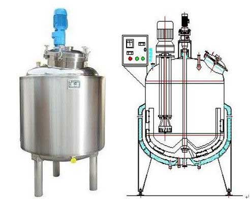 Paint use electrical heating reaction vessel / 500L - 5000L ss tanks - From India