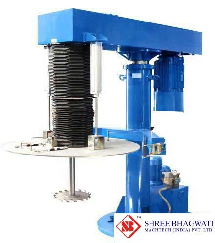 Pneumatic Elevating cover type high speed dispersion machine From India
