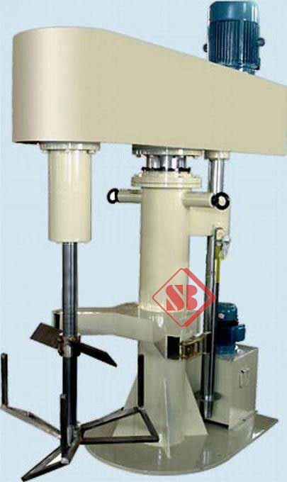 Butterfly type High Speed Disperser mixer Hydraulic Lifting Sirring and mixing viscosity From India